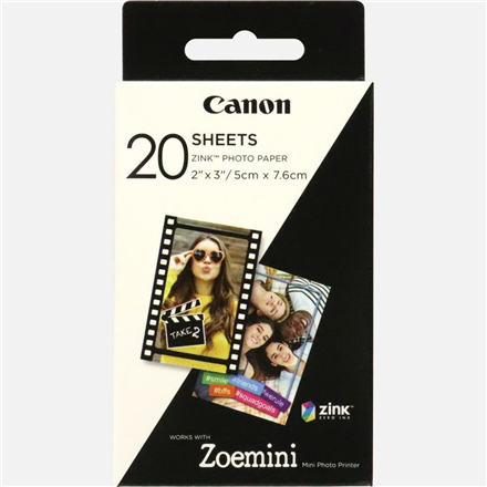 CANON ZINK PAPER ZP-2030 20 SHEETS printeris