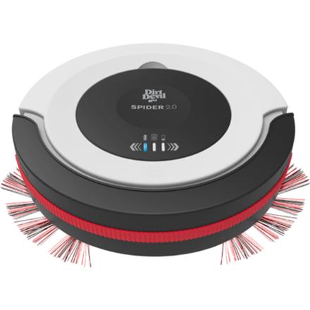 Dirt Devil M612 Spider 2.0 Warranty 24 month(s), Robot, Black/ white/ red, 0.3 L, 68 dB, 90 min, Cordless robots putekļsūcējs