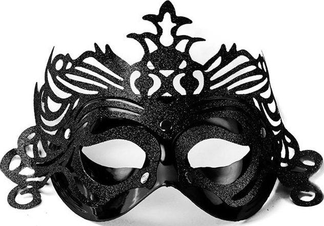 Party Deco Maska imprezowa, ornament, czarna uniwersalny 5736170