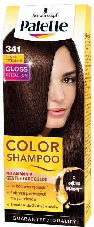 Palette Color Shampoo Coloring shampoo No. 341 Dark Chocolate