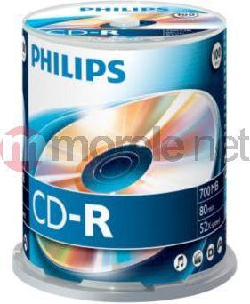 Philips CR7D5NB00 - 100 x CD- R - 700MB (80 Min) 52x - Spindel (CR7D5NB00/00) matricas