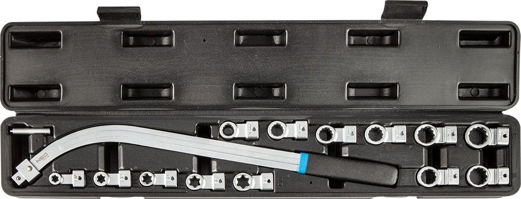 NEO klucz do demontazu napinaczy z wymiennymi koncowkami 14 sztuk (11-169) 11-169