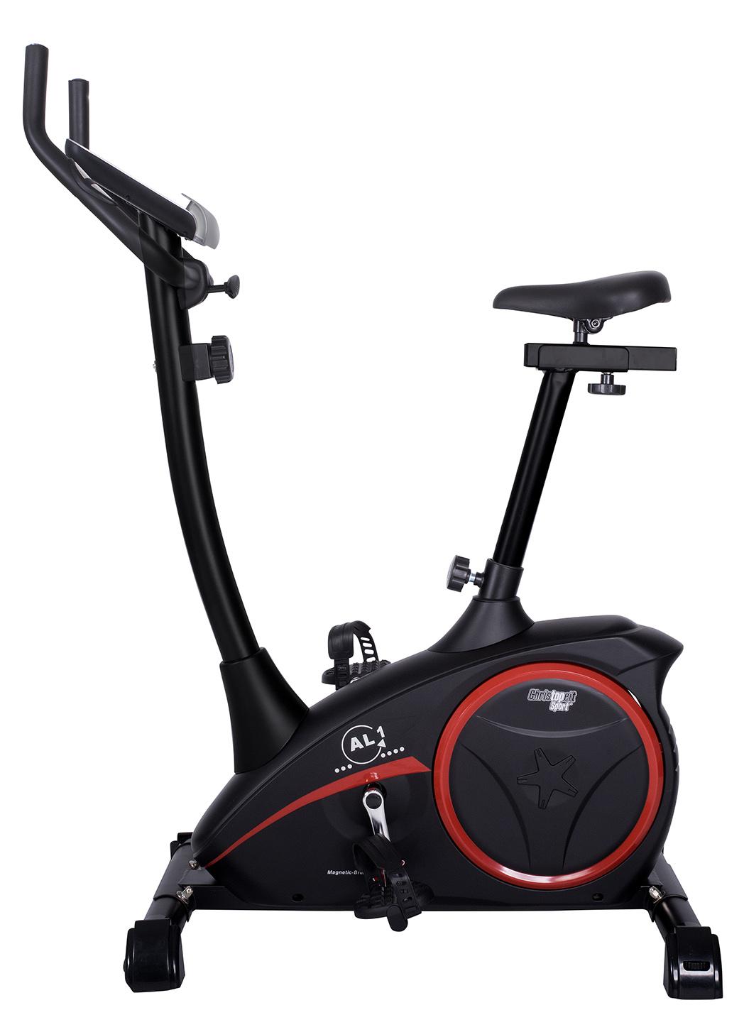CHRISTOPEIT SPORT velotrenazieris AL1 black TouchSc, 9kg/150kg Trenažieri