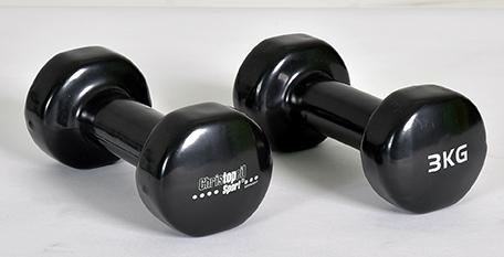 CHRISTOPEIT SPORT vinila hanteles - Beauty Bells 2x3kg (paris) hanteles