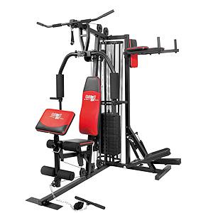 CHRISTOPEIT SPORT fitnesa stacija  Profi Center: Step+Dips 60 kg de Luxe Black Sporta aksesuāri