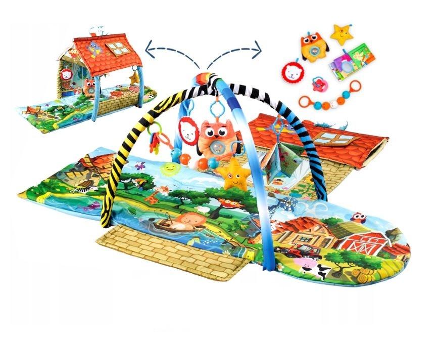 Lionelo Educational mat AGNES cottage