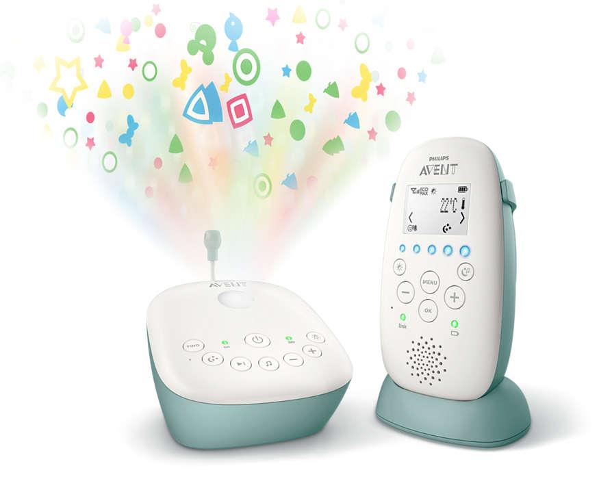 Jaunums! Philips Avent DECT mazuļa uzraudzības ierīce SCD731/52 Mazuļu uzraudzība
