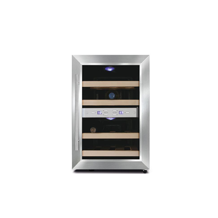 Caso Wine cooler Wine Duett 12 Table, Bottles capacity 12, Cooling type PELTIER TECHNOLOGY, Stainless Steel 4038437006209 Vīna skapji