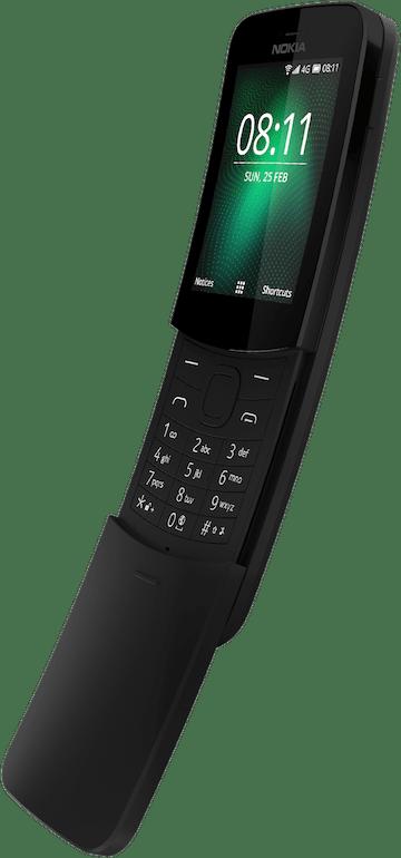 Nokia 8110 4G Dual SIM Black Mobilais Telefons