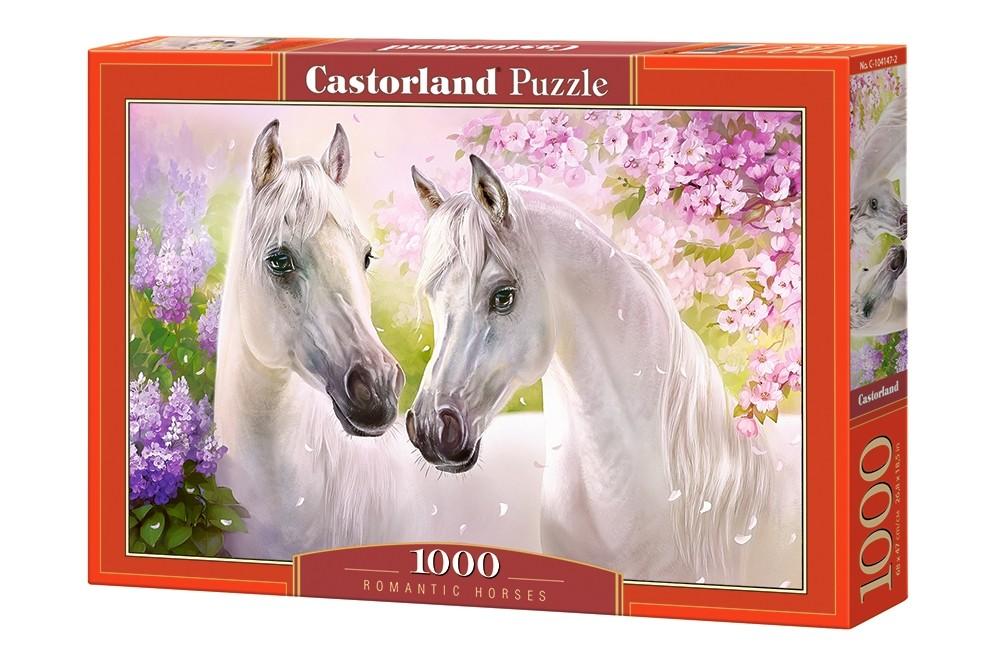 Castor Puzzle 1000 pcs - Romantic horses puzle, puzzle
