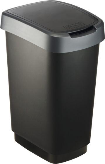 ROTHO SWING BIN 25 L TWIST DARK SILVER 1754408 atkritumu tvertne