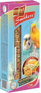 Vitapol Smakers dla papuzki falistej 3w1 Vitapol 130g 5904479021090