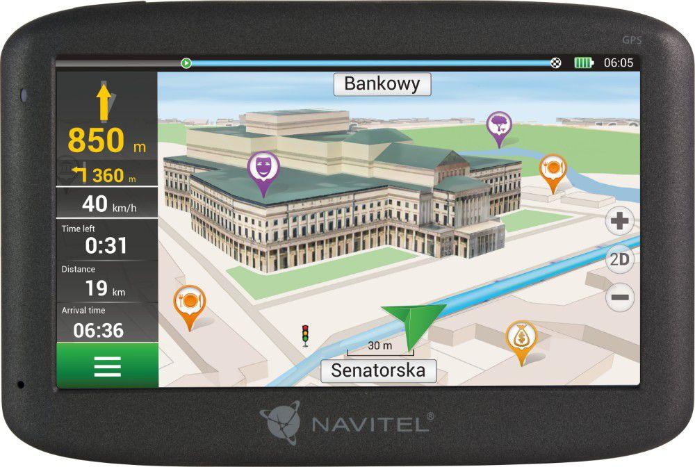 NAVIGATION NAVITEL F150 5'' PL+CZE+SVK+BLR+UKR (LIFEIME MAP) Navigācijas iekārta