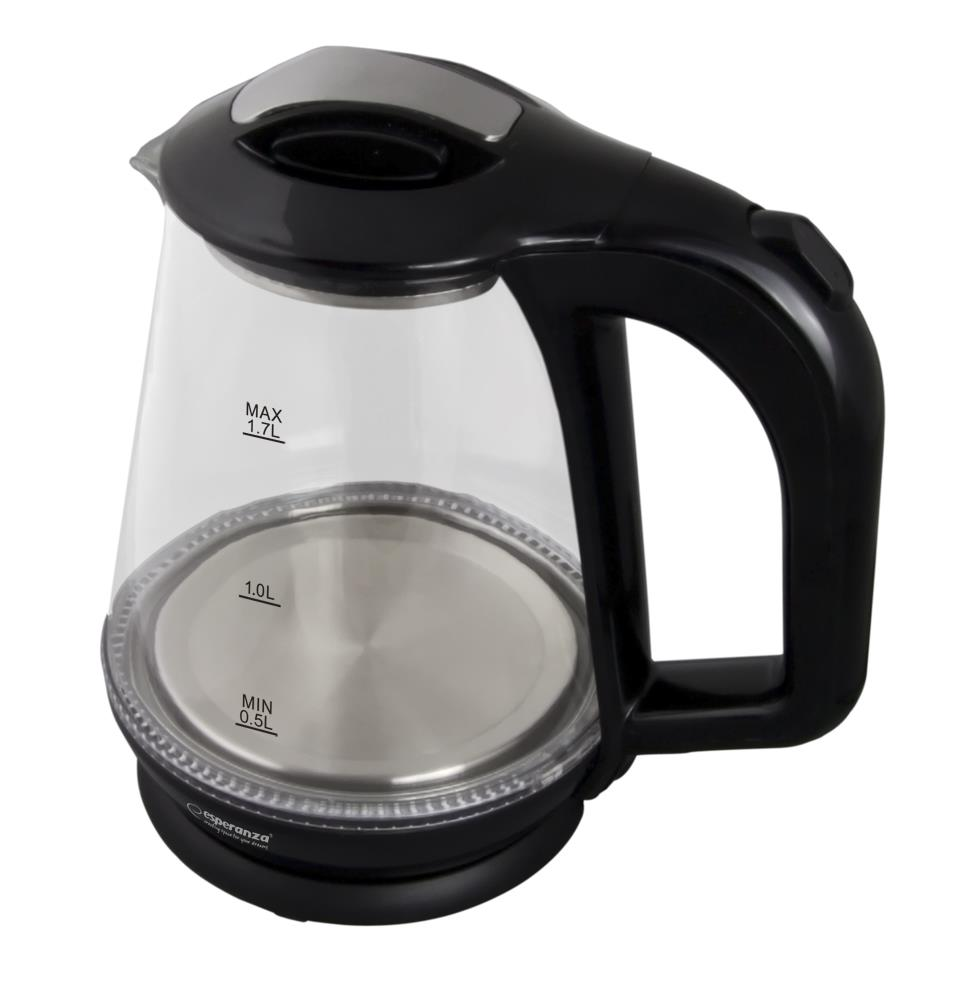 ESPERANZA EKK024K MISSOURI - Electric Kettle 1,7L, GLASS WITH LED LIGHT Elektriskā Tējkanna