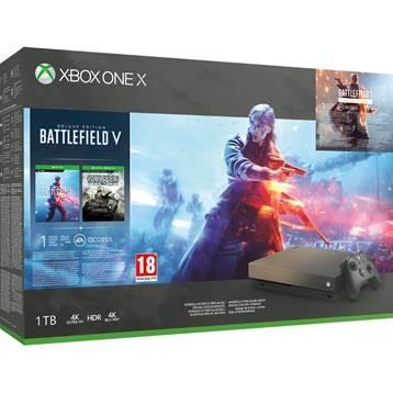 Microsoft Xbox One X 1TB + Battlefield V + Battlefield 1 Revolution + Battlefield 1943 spēļu konsole