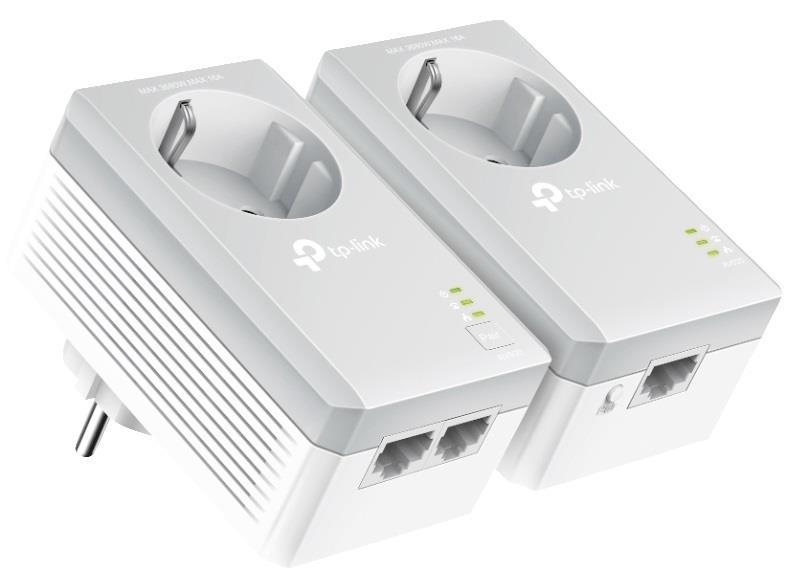 TP-Link TL-PA4022P Kit, AV600 Passthrough, 600Mbps Powerline Twin Pack POWERLINE adapteri