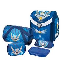 Herlitz Flexi Plus Robot Boy Polyester Blue school bag set Skolas somas un penāļi