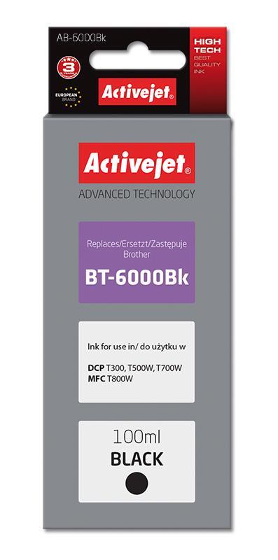 Activejet AB-6000Bk (replacement Brother BT-6000BK; Supreme; 100 ml; black) kārtridžs