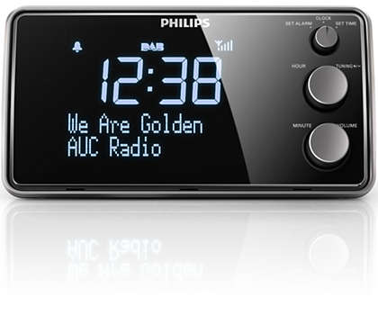 Philips Digital tuning clock radio AJB3552 FM, Digital tuning Dual alarm Time & alarm backup akustiskā sistēma