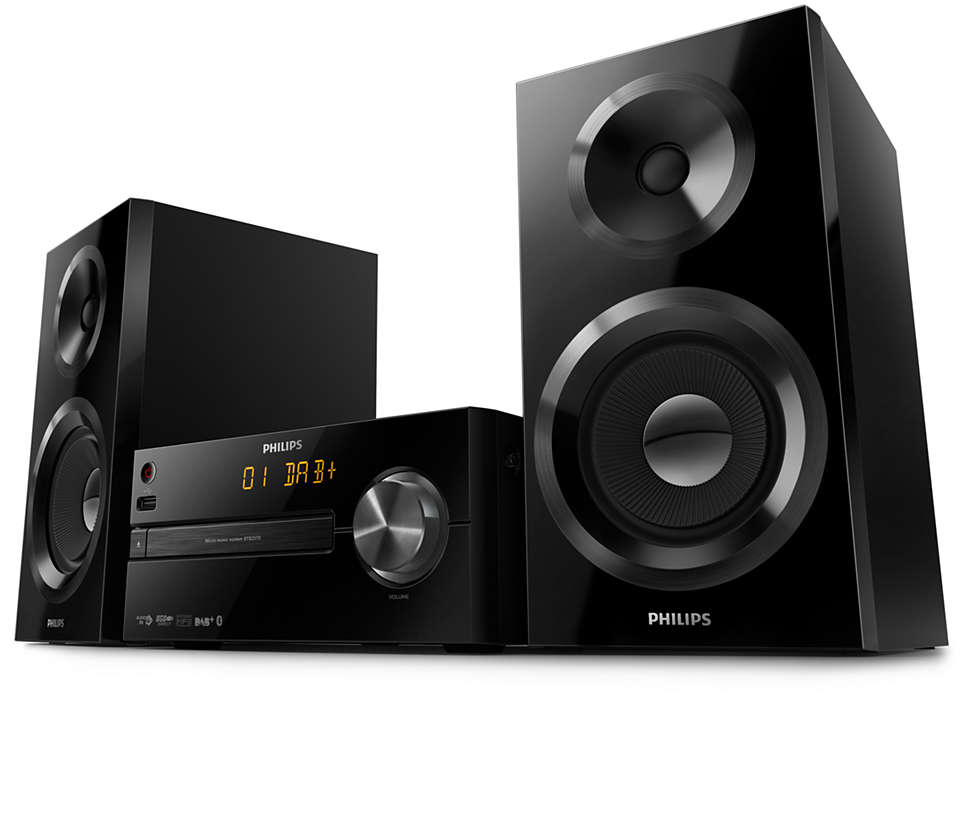 PHILIPS Micro music system BTB2570/12, 70W, Bluetooth, DAB+, CD, MP3-CD, USB, FM akustiskā sistēma