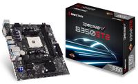 BIOSTAR RACING B350ET2 B350 DDR4 LGAAM4 uATX pamatplate, mātesplate