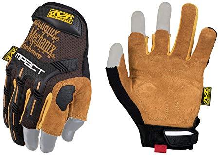 Cimdi Mechanix M-Pact Framer Leather melni/bruni 9/M cimdi