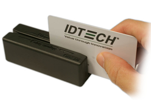ID TECH MiniMag Intelligent Swipe Reader IDMB-3341 - Magnetic Card Reader (Lanes 1, 2 & 3) - Keypad / USB - Black (IDMB-334133BM)