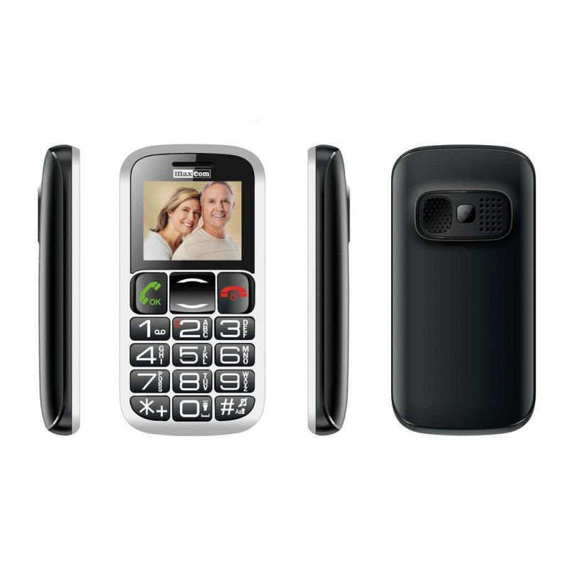 MaxCom MM462BB HU, Senior Phone GSM - Black-Silver Mobilais Telefons