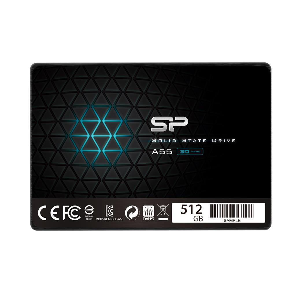 Silicon Power SSD Ace A55 512GB 2.5'', SATA III 6GB/s, 560/530 MB/s, 3D NAND SSD disks