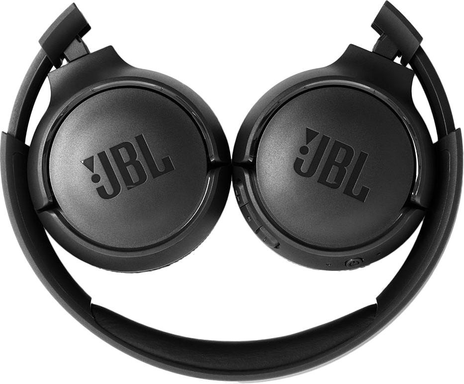 JBL on-ear austiņas ar Bluetooth, melnas JBLT500BTBLK austiņas