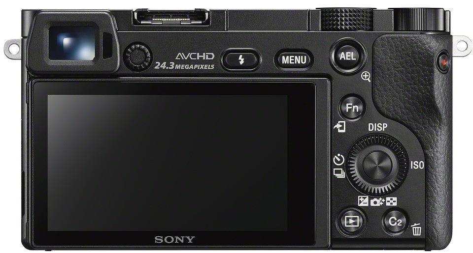 Sony A6000 Body Black, 24.7MP, , Exmor APS HD CMOS sensor, 3 Spoguļkamera SLR