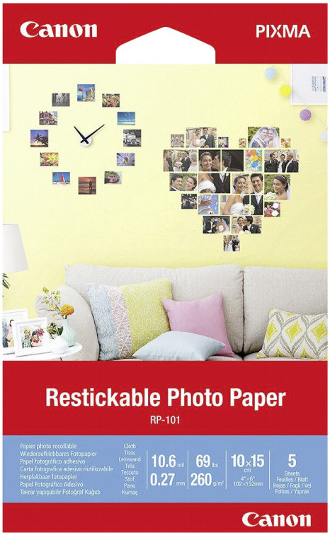 Canon RP-101 10x15 cm Restickable Photo Paper 5 Sheets papīrs