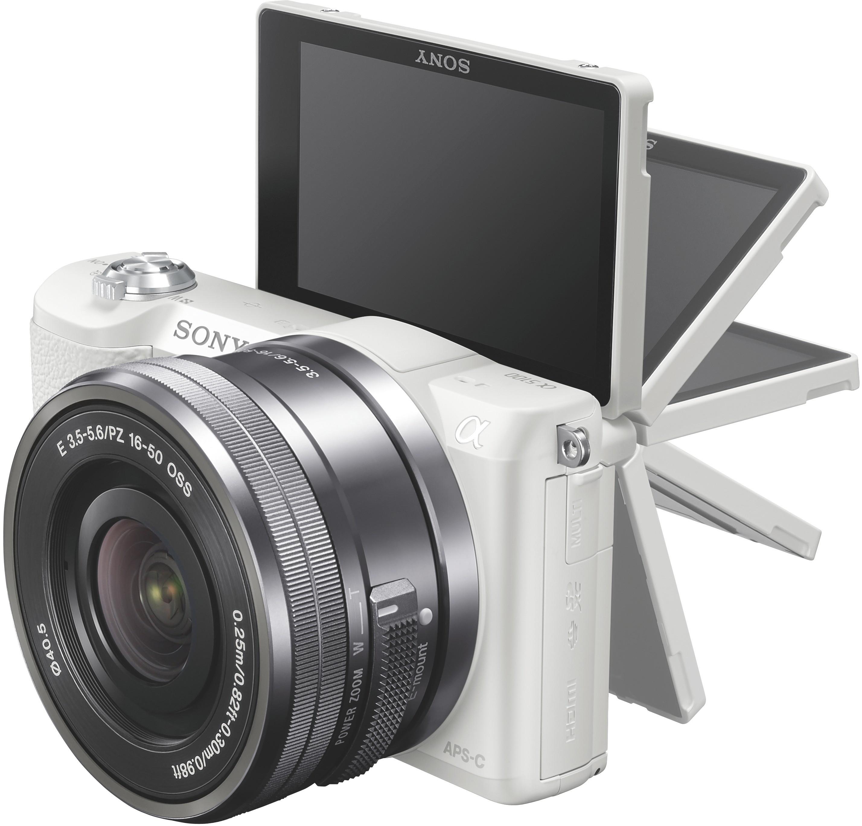 Sony A5100 White with 16-50mm lens Spoguļkamera SLR