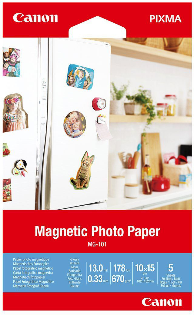 Canon MG-101 10x15 cm Magnetic Photo Paper 5 Sheets papīrs