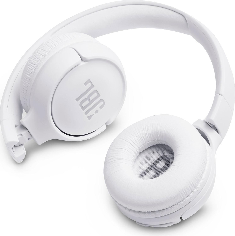 JBL on-ear austiņas ar Bluetooth, baltas JBLT500BTWHT austiņas