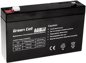 Green Cell AGM 6V 7Ah (AGM12) UPS aksesuāri