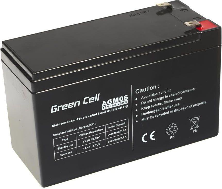 Green Cell AGM Battery 12V 9Ah UPS aksesuāri