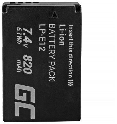 Green Cell LP-E12 for Canon EOS (CB54) foto, video aksesuāri