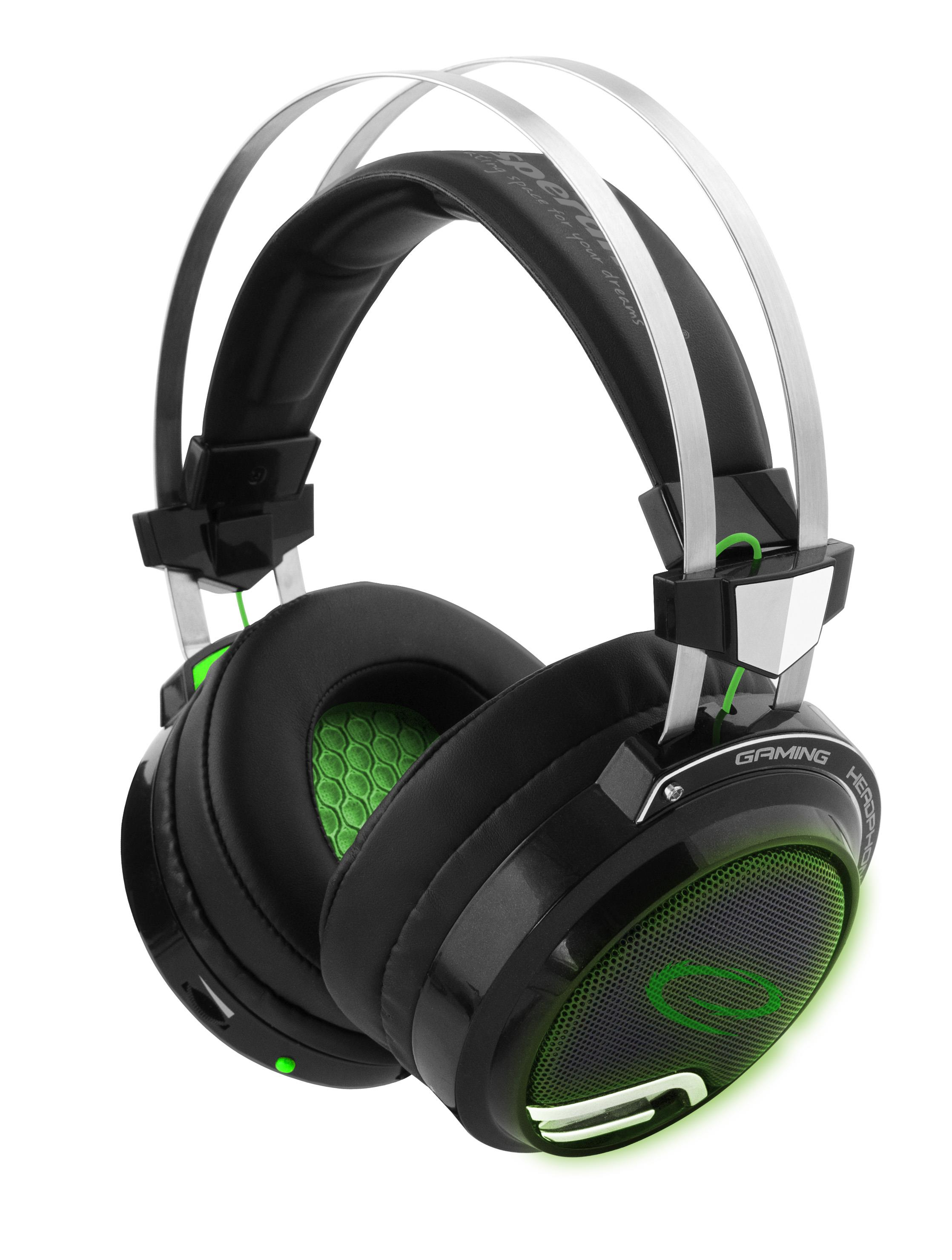 Esperanza BLOODHUNTER FOR GAMERS WITH VIBRATIONS AND 7.1 SURROUND SOUND austiņas