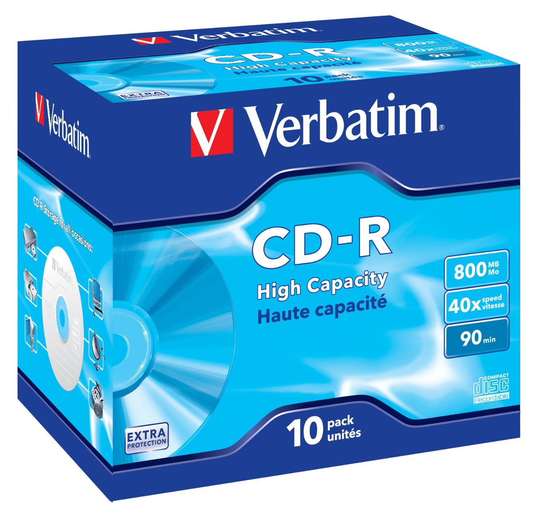 Verbatim CD-R 90/800MB 40X EXTRA PROTECTION jewel box - 4342 matricas