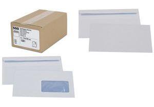 GPV Envelopes, DL 110 x 220 mm, white, with window - for the market: CH / F - 1 piece (1386) biroja tehnikas aksesuāri