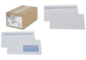 GPV Envelopes, DL 110 x 220 mm, white, with window - for the market: CH / F - 1 piece (1386) biroja tehnikas aksesuāri