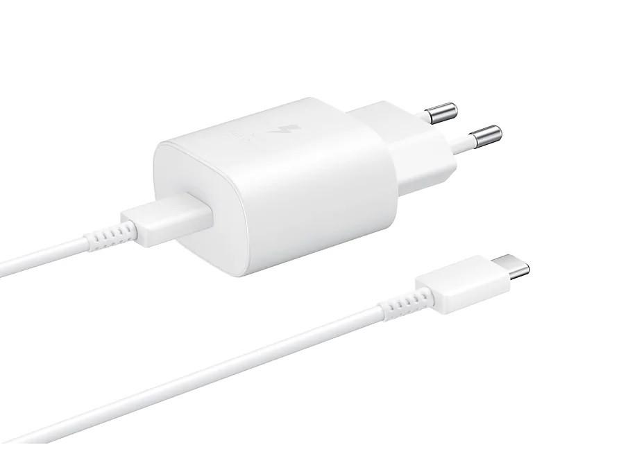 Samsung fast charer USB-C 25W 1 m white