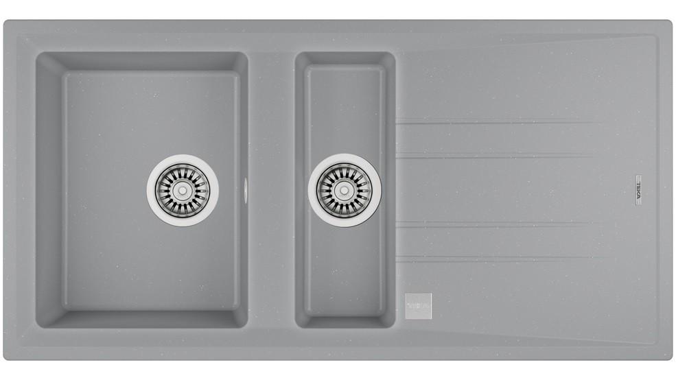 Teka Recessed sink STONE 60 B-TG aluminum-115360007 Izlietne
