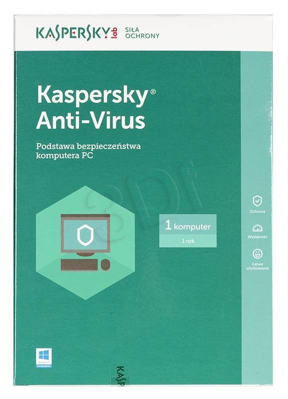 Kaspersky Anti-Virus PL 1Dsktp 1Y    KL1171PBAF