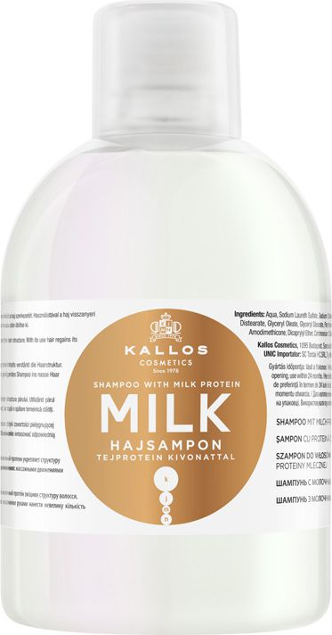 Kallos KJMN Milk Shampoo with 1000ml milk protein extract Matu šampūns