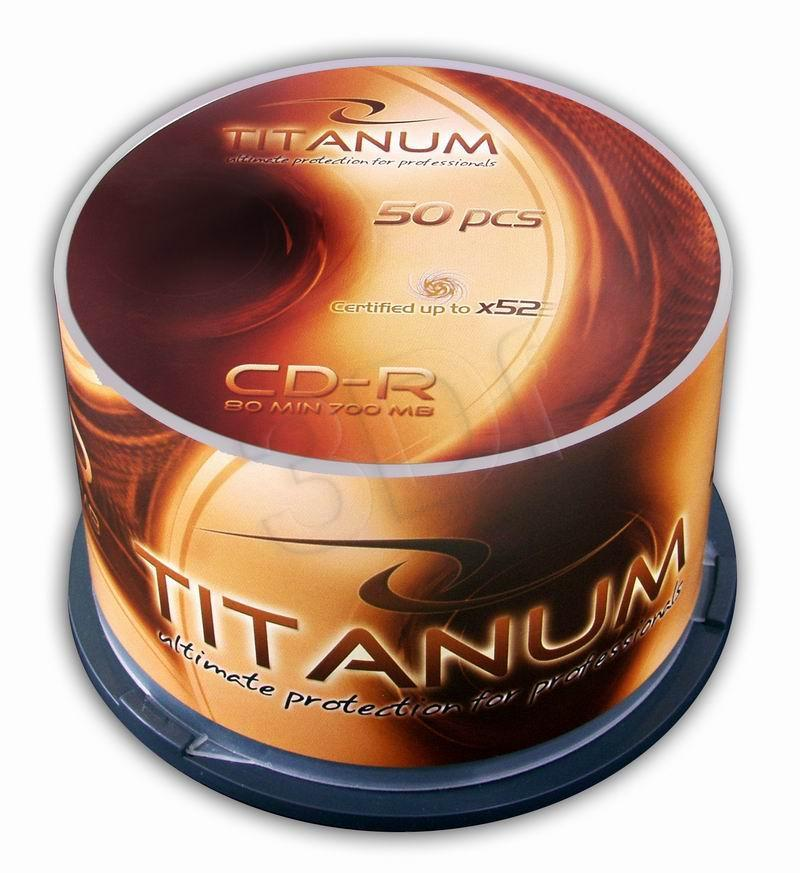 CD-R TITANUM [ cake box 50 | 700MB | 52x ] matricas