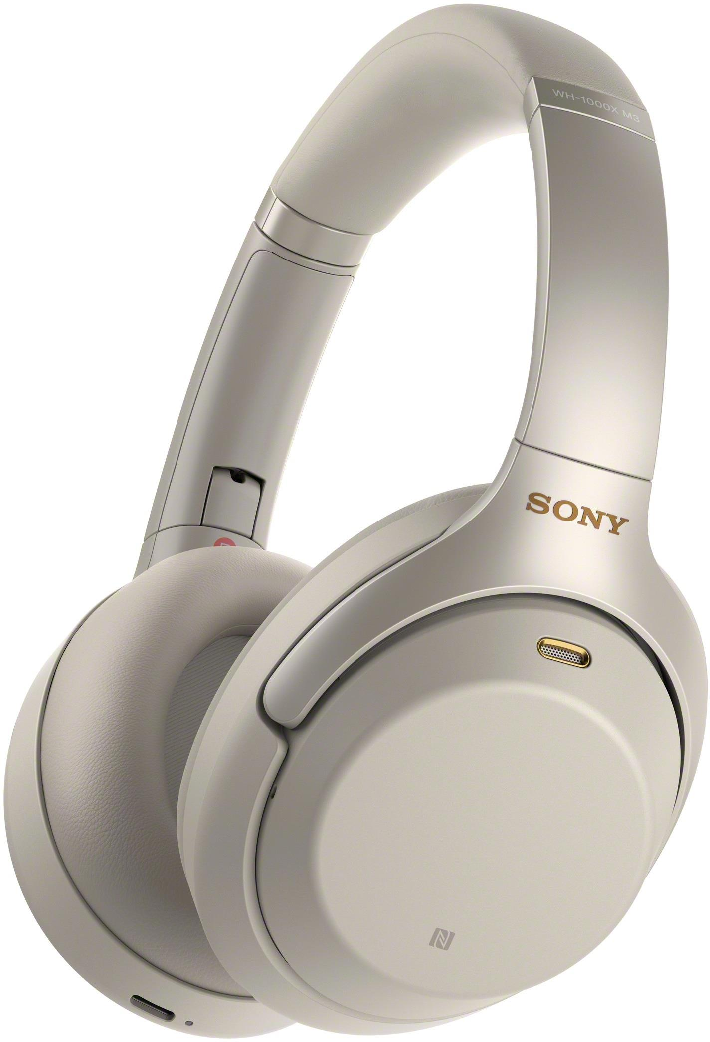 Sony Headphones  WH-1000XM3 Headband/On-Ear, 3.5mm (1/8 inch), Silver, Noice canceling, Wireless austiņas