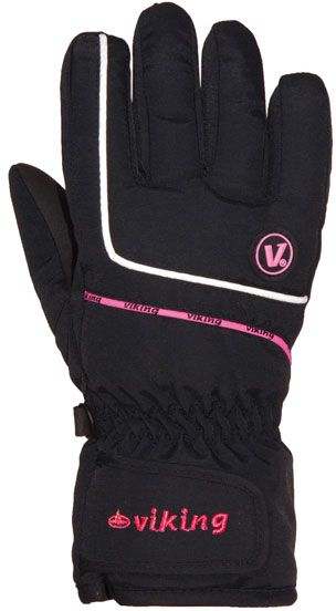 Viking Kevin gloves black and pink s. M (120/11/2255) cimdi