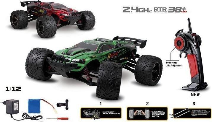 Truggy Racer 2WD 1:12 2.4GHz RTR- Red Radiovadāmā rotaļlieta